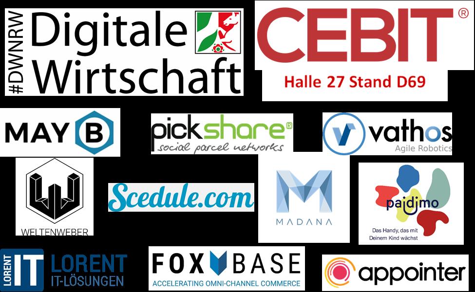 10 Start-ups auf der CEBIT mit der Initiative Digitale Wirtschaft NRW