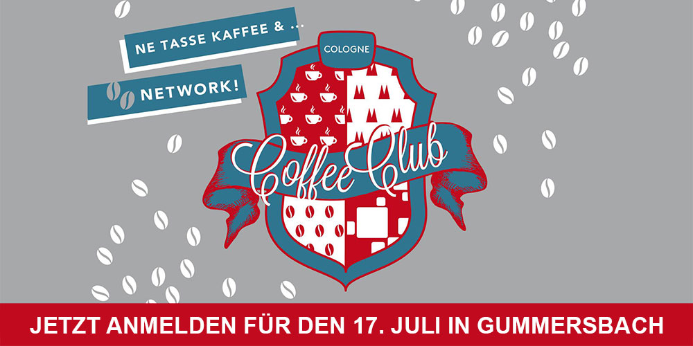 Coffee Club Cologne #5 am 17. Juli in Gummersbach