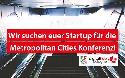 Metropolitan Cities: Digital Hub Cologne sucht fünf Startups für Mobilitätskonferenz