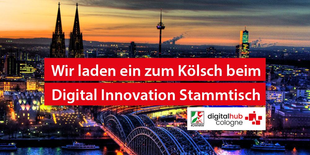 Typisch Kölsch: Einladung zum Digital Innovation Stammtisch am 26. Juli