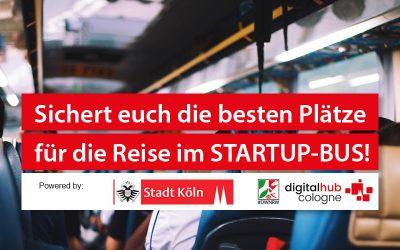 Startup-Bus: Kölner Gründerinnen und Gründer fahren zum Matchmaking mit Unternehmen nach Gummersbach